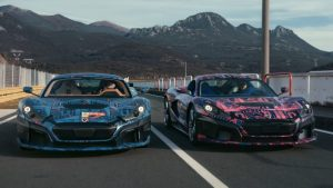 Watch Rimac test the C_Two's active aerodynamics on track