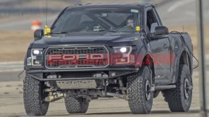 The F-150 'runt' Raptor mule is back, but what SUV will this be?