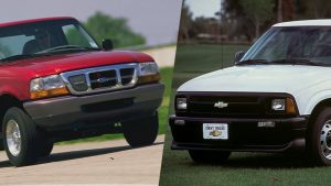 Chevy S10, Ford Ranger Electrics were early electric pickup trucks