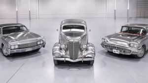 Stainless steel Ford and Lincoln historic trio up for auction