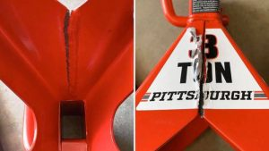 Replacement Harbor Freight jack stand reportedly fails on first use