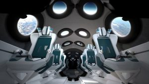 Virgin Galactic shows off spaceship passenger cabin's interior
