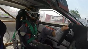 This pro drifter races with his feet