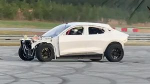 Mystery Ford Mustang Mach-E track car prototype spied