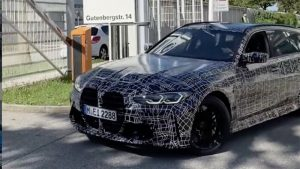 BMW M3 Touring teased, reveals giant grille