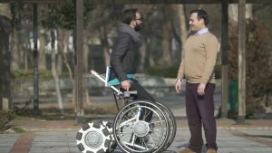 This wheelchair's modular design allows it to position users upright