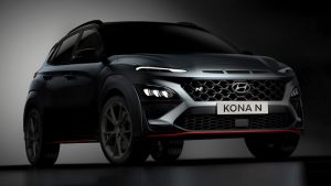 2022 Hyundai Kona N not quite revealed but shows off big wing and exhaust