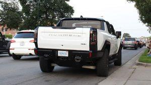 GM crab walked the Hummer EV truck up and down Woodward this weekend